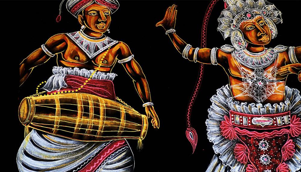 スリランカの伝統的な舞踊衣装